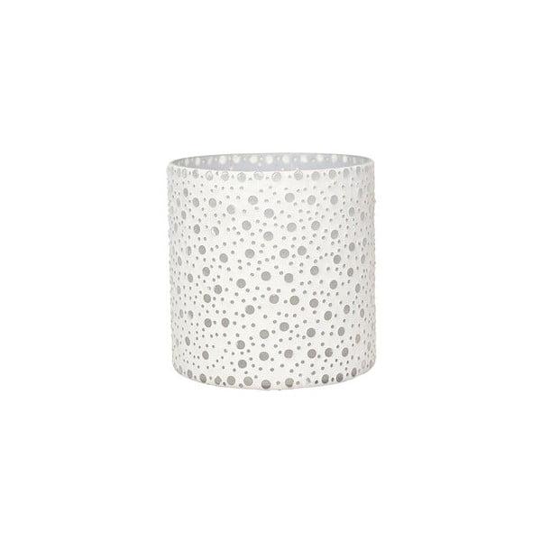 Svietnik Dots in White, 16,5 cm