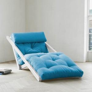 Leňoška Karup Figo White/Horizon Blue,  70 cm