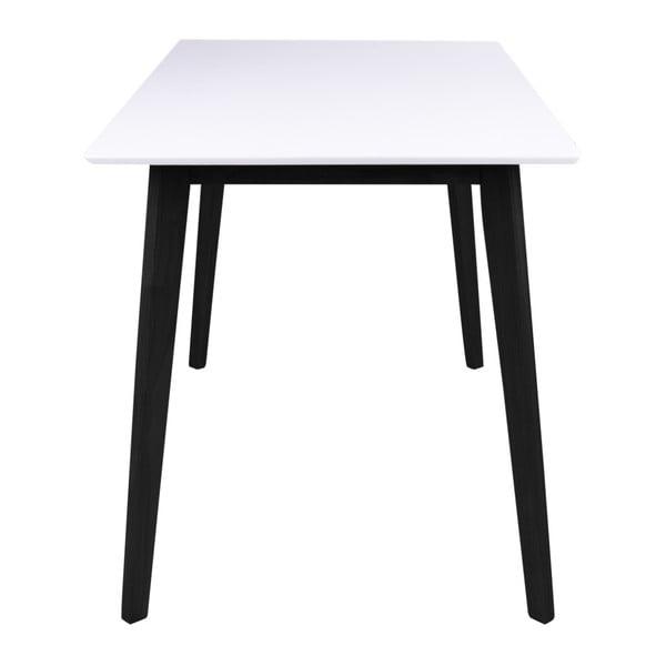 Jedálenský stôl s bielou doskou a čiernymi nohami z kaučukového dreva House Nordic Vojens, 120 × 70 cm