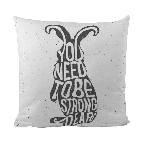 Vankúšik Black Shake Strong Bunny, 50x50 cm