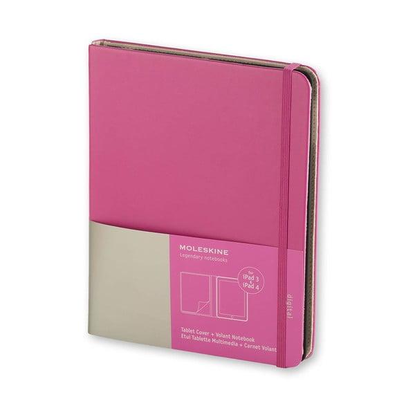 Obal na iPad 3/4 Moleskine, ružový