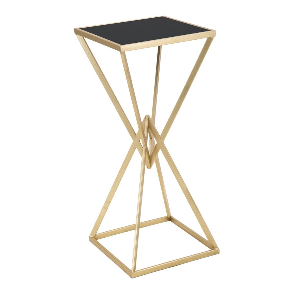 Odkladací stolík v čierno-zlatej farbe Mauro Ferretti Piramid, výška 80 cm