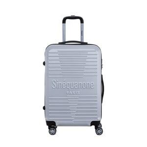 Cestovný kufor na kolieskách v striebornej farbe s kódovým zámkom SINEQUANONE Trimy, 71 l
