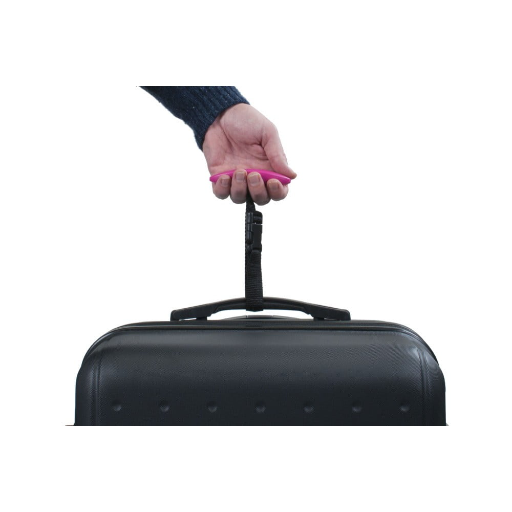 Ružová digitálna váha na váženie kufra Bluestar