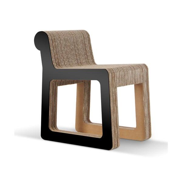Kartónová stolička Knob Black