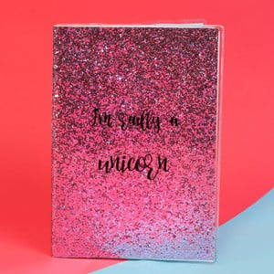 Zápisník Just 4 Kids Unicorn Magic Pink Glitter, 100 stránok