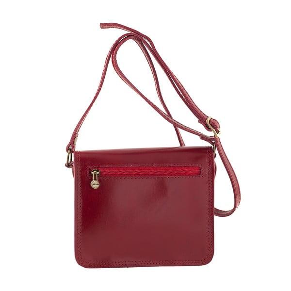 Červená kožená kabelka Ore Diece Agrigento