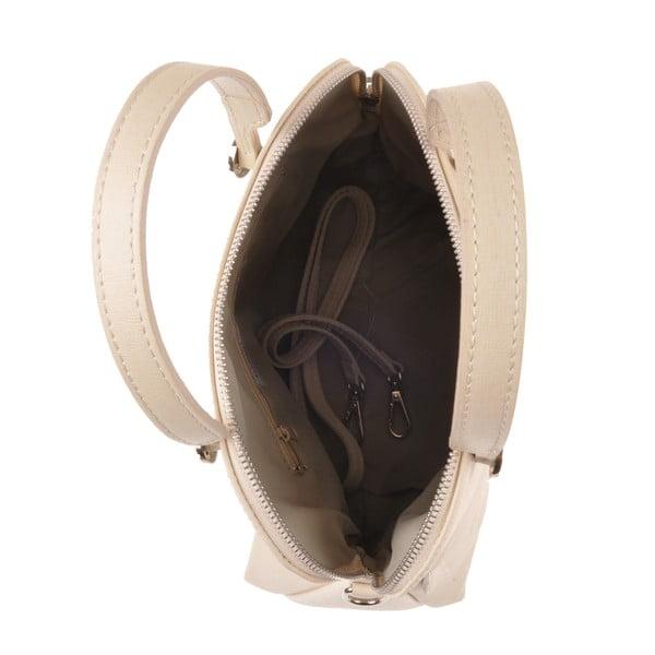 Pudrová kožená kabelka Emilio Masi Yutz