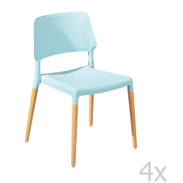 Sada 4 modrých jedálenských stoličiek 13Casa Molde