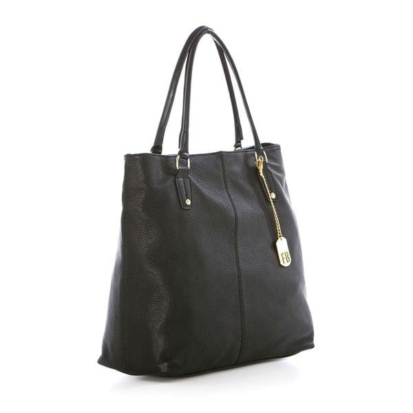 Čierna kožená kabelka Federica Bassi Harmonia