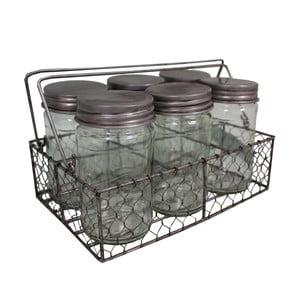 Košík so 6 pohármi Industry