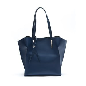 Modrá kožená kabelka Mangotti Kalina