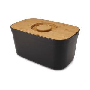 Čierny chlebník s dreveným vekom Josoph Josoph Bin