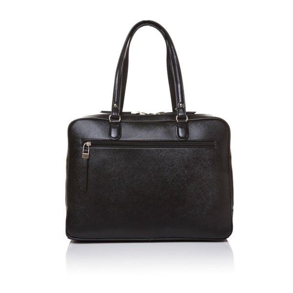 Kožená kabelka cez rameno Marta Ponti Aipee, čierna