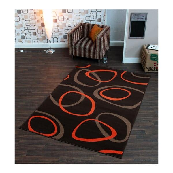 Čierny koberec Hanse Home Prime Pile Ring Night, 80x150cm