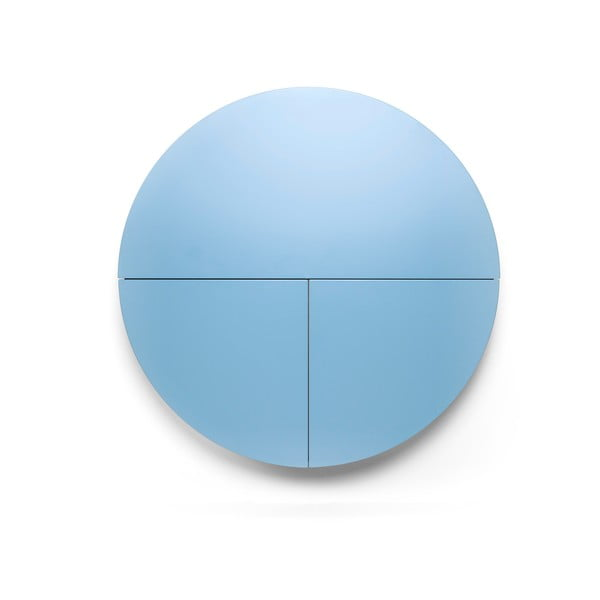 Modro-biely multifunkčný nástenný stôl EMKO Pill