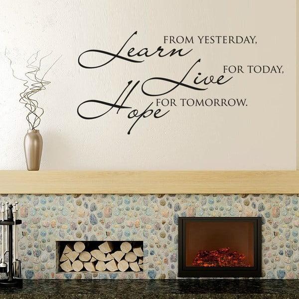 Samolepka na stenu Learn live hope II