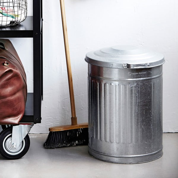 Odpadkový kôš Garbage Zinc, 25,5x30 cm