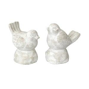 Sada 2 dekoratívnych sošiek Bolzonella Cement Birds
