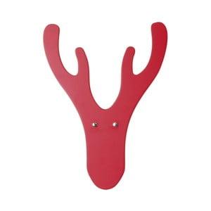 Červený nástenný vešiak Furniteam Reindeer