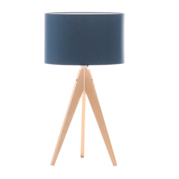 Stolná lampa Artist Dark Blue/Birch, 40x33 cm