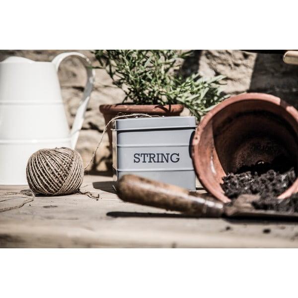 Sivá dóza na povrázok Kitchen Craft Living Nostalgia String