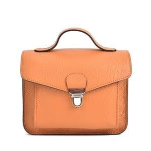 Koňakovohnedá kožená kabelka Mangotti Bags Cristina