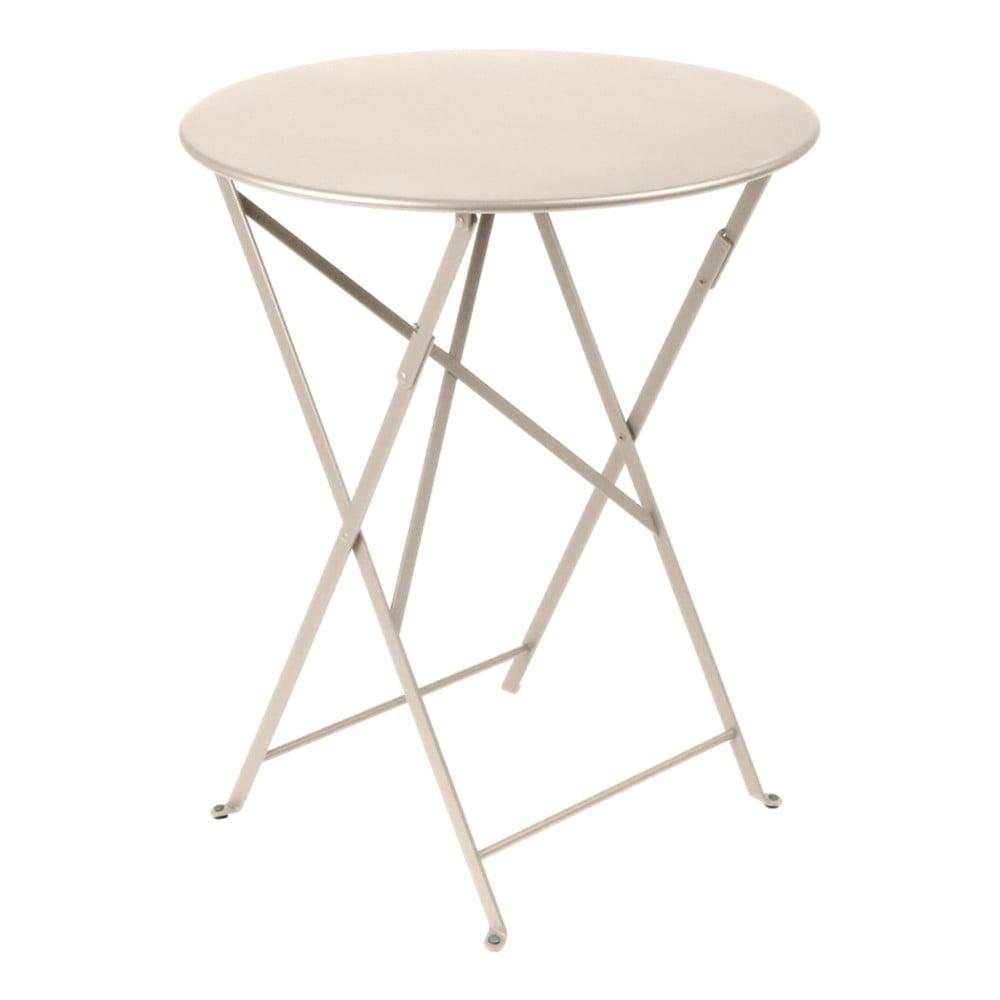 Svetlobéžový záhradný stolík Fermob Bistro, Ø 60 cm