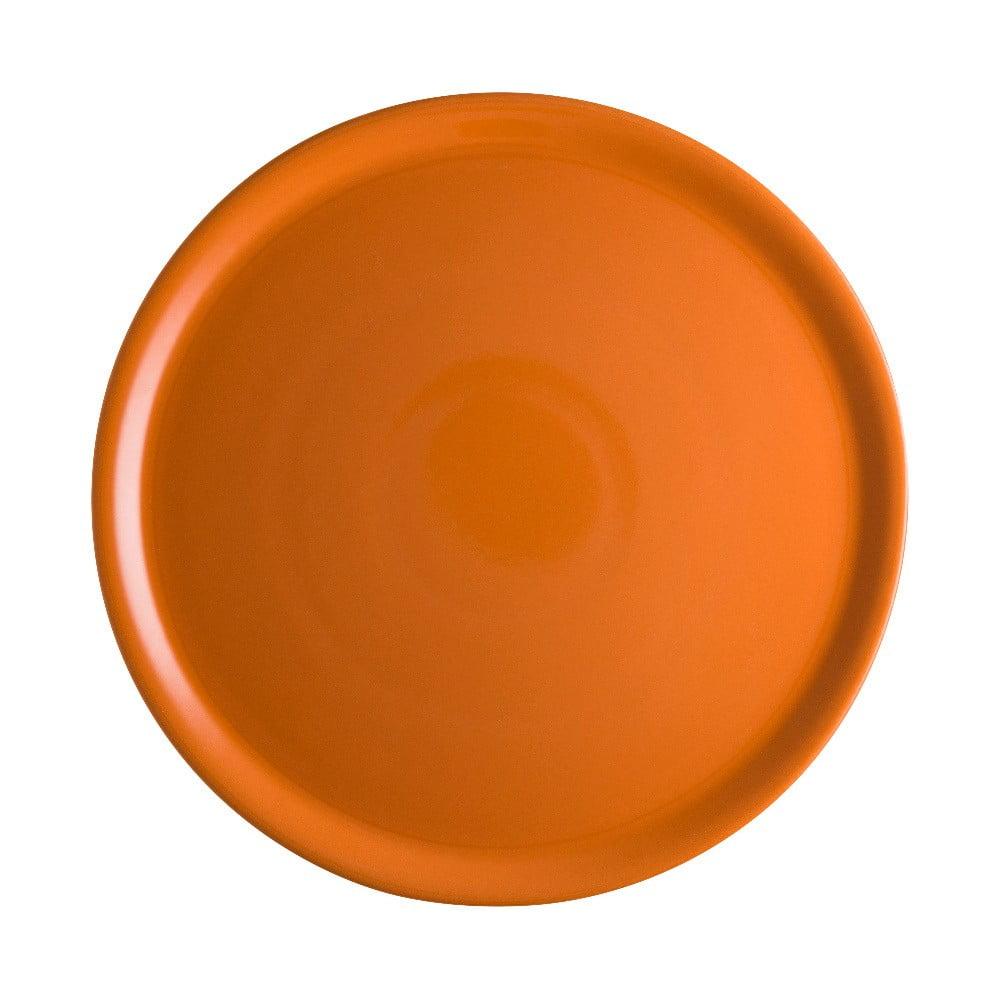 Oranžový porcelánový tanier na pizzu Brandani Pizza, ⌀ 31 cm