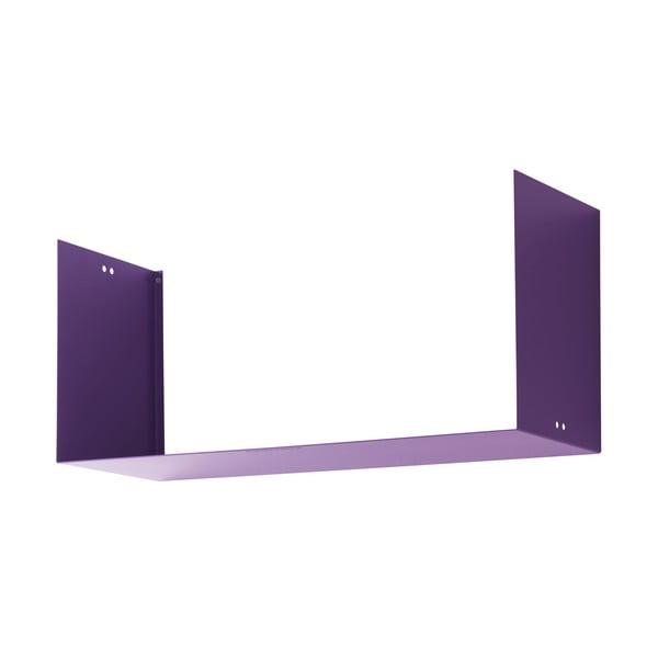Nástenná polica Geometric Three, fialová