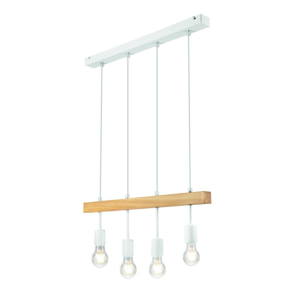 Biele závesné svietidlo pre 4 žiarovky Lamkur Orazio