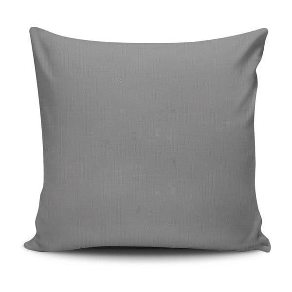Sivá obliečka na vankúš Riva, 45 x 45 cm