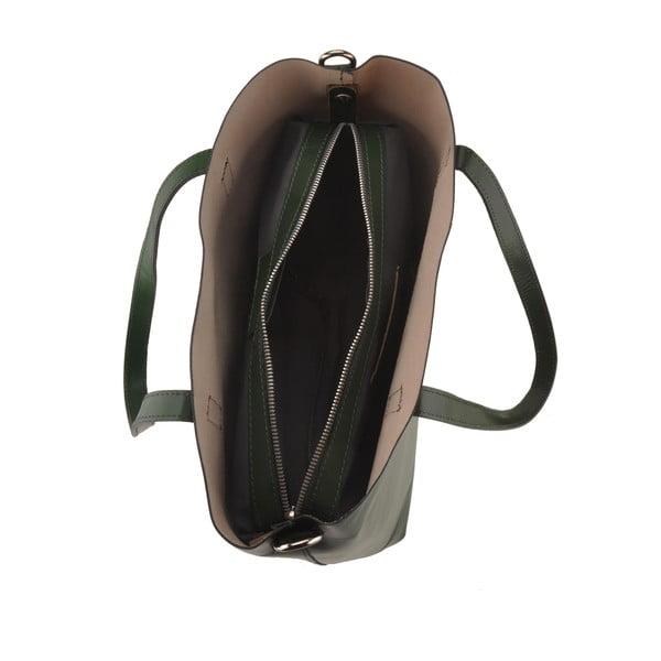 Zelená kožená kabelka Florence Tangor