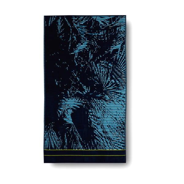Modrá bavlnená osuška Casa Di Bassi Palm, 100x180 cm