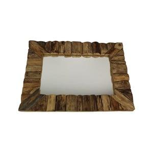 Nástenné zrkadlo z teakového dreva HSM Collection Nature, 60 x 80cm