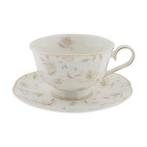 Porcelánový hrnček s tanierikom Clayre & Eef Anastasia, 250 ml