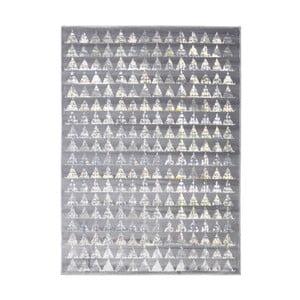 Sivý vysokoodolný koberec Floorita Optical Garro, 80 x 150 cm