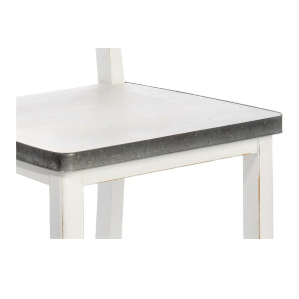 Jedálenská stolička White Wood so zinkovanými detailami