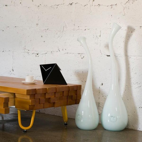 Sklenená váza Swan 60-70 cm, mliečna