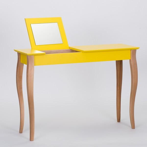 Žltý toaletný stolík sozrkadlom Ragaba Dressing Table,dĺžka105cm