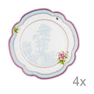 Porcelánový tanier  Lovely od Lisbeth Dahl, 24 cm, 4 ks