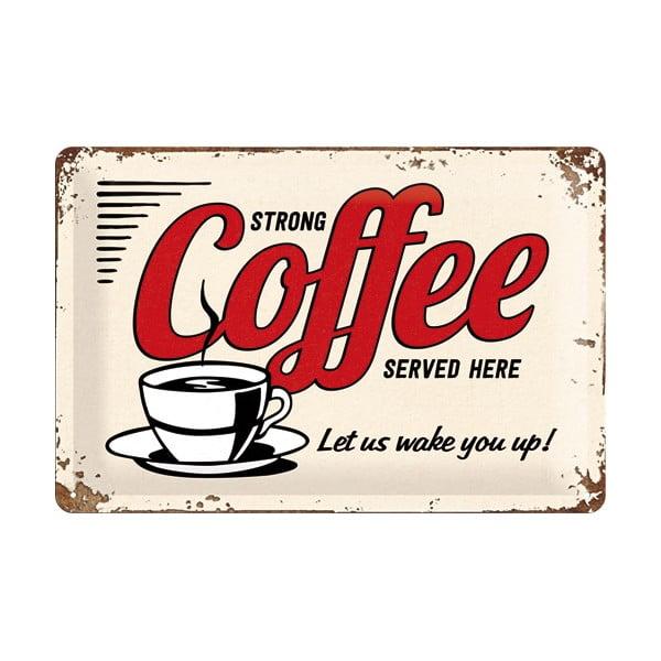 Plechová ceduľa Coffee, 20x30 cm