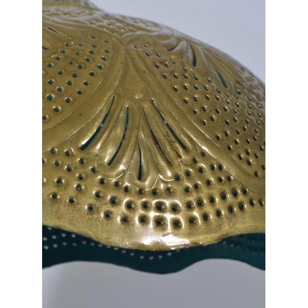 Mosadzné tienidlo Rajastan, zlatotyrkysová