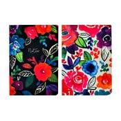Sada 2 zápisníkov A5 Portico Designs Bold Floral