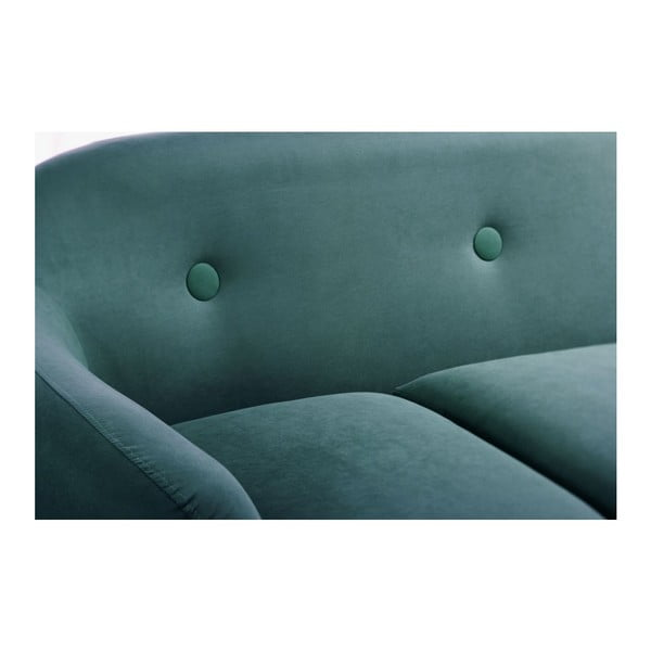 Pohovka Stella Turquoise s leňoškou na pravej strane