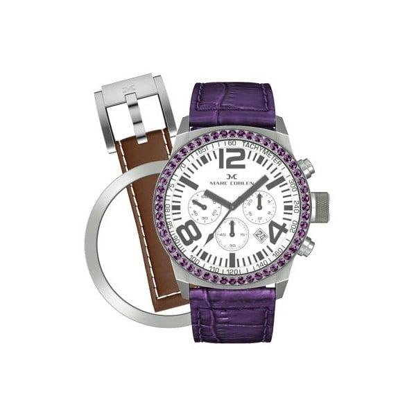 Dámske hodinky Marc Coblen s remienkom a ozdobou ciferníku naviac P12