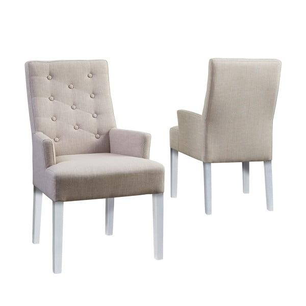 Stolička Canett Twitter Chair s operadlami, svetlé nohy