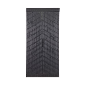 Čierna skriňa z borovicového dreva DeEekhoorn Fishbone