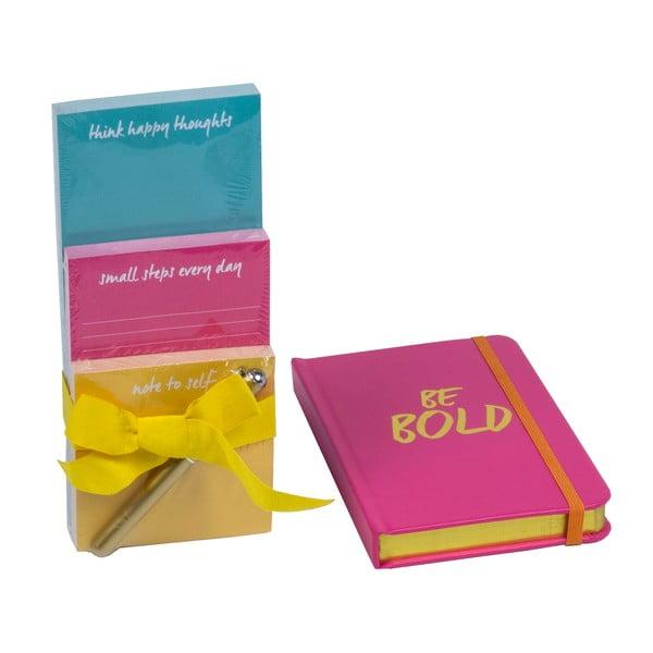 Sada zápisníka a bločkov s perom Be Bold