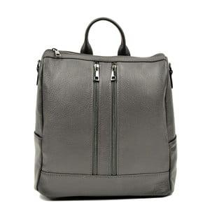 Sivý kožený batoh Luisa Vannino Tara